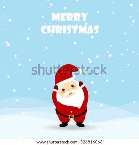 Christmas card with Santa Claus.Merry Christmas