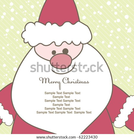 Christmas card with Santa for text. Vector illustration