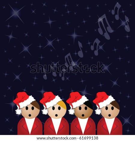 christmas carol singers against