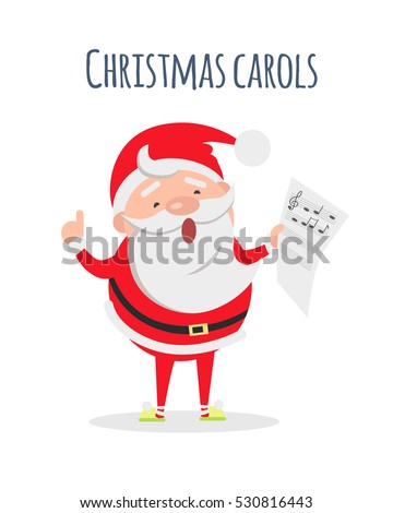 christmas carols list in santas