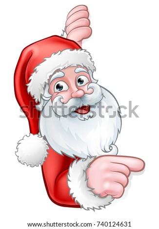 christmas cartoon of santa