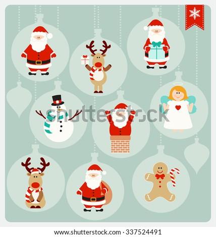 christmas characters   santa