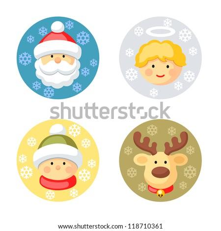 christmas characters set