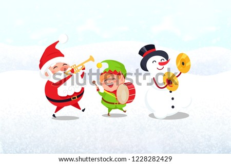 christmas characters with