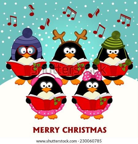 christmas choir penguins