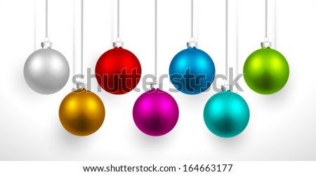 christmas colored balls with