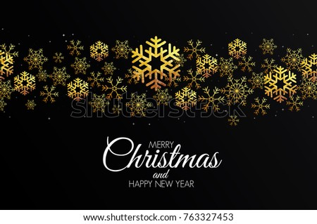 Christmas colorful greeting card made in polygonal origami style. Party poster, greeting card, banner or invitation. Ornaments formed by triangles. Vector #763327453