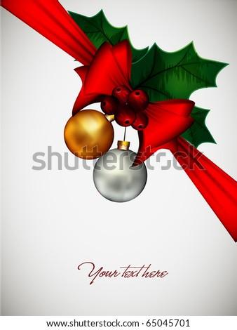 Christmas Composition | Vector Card EPS10
