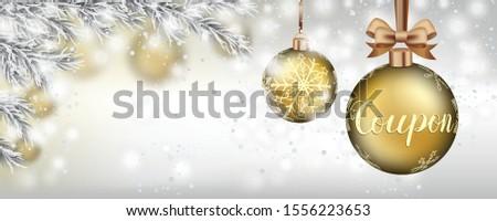 christmas coupon banner with