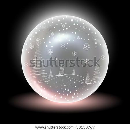 Christmas Crystal Snow Ball (Vector)