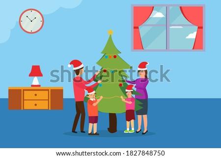 christmas day vector concept