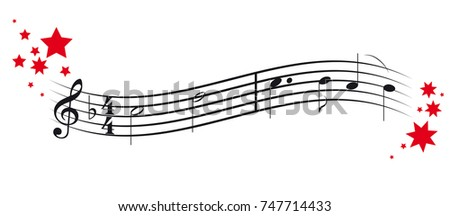 Christmas decor and music notes - O how joyfully