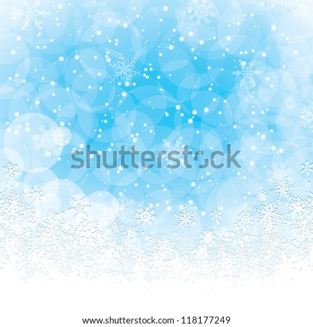 Christmas decoration background with space for text