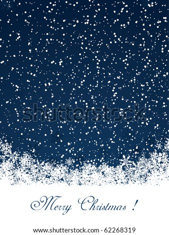 Christmas decoration background with text