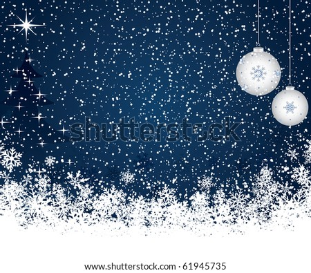 Christmas decoration background with tree