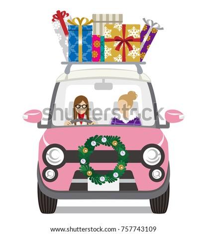 christmas decoration car loads