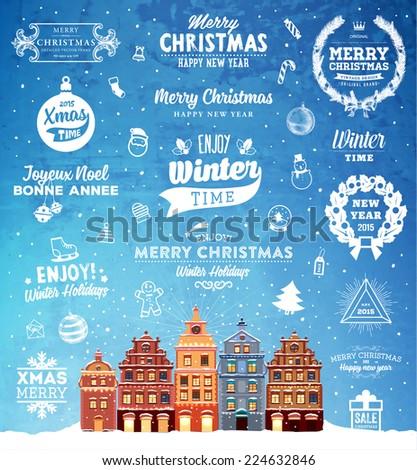 christmas decoration set of