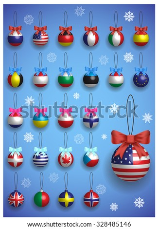 christmas decoration set with