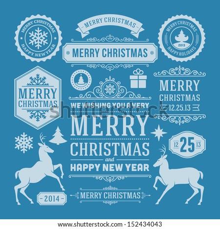 christmas decoration vector...