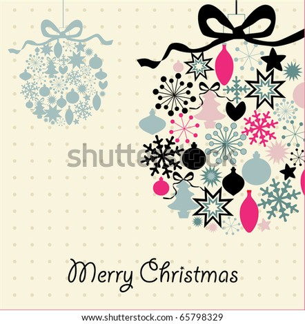 Christmas decoration , vector illustration card