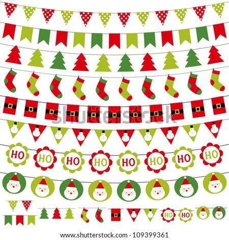 christmas decoration vector set