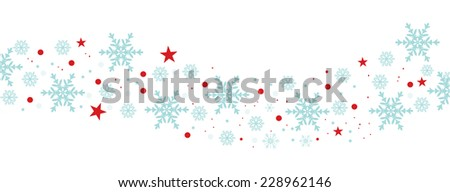 Christmas decoration with stars and snowflakes