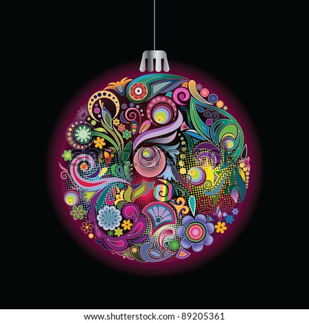 Christmas decorations I - stock vector