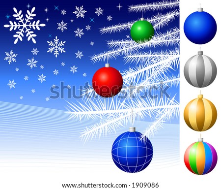 Christmas Decorations - Vector.
