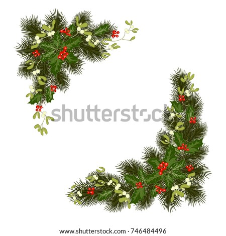christmas decorations with fir