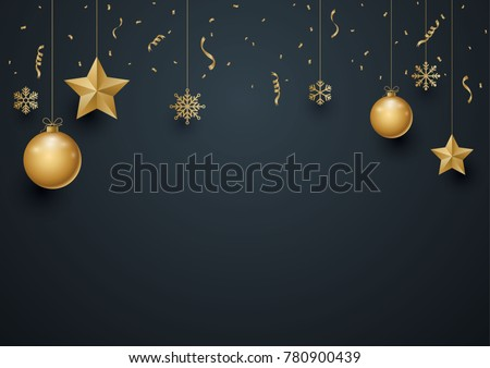 Christmas decorative background with free space for text. Vector illustration theme for Christmas card and New Year poster. #780900439