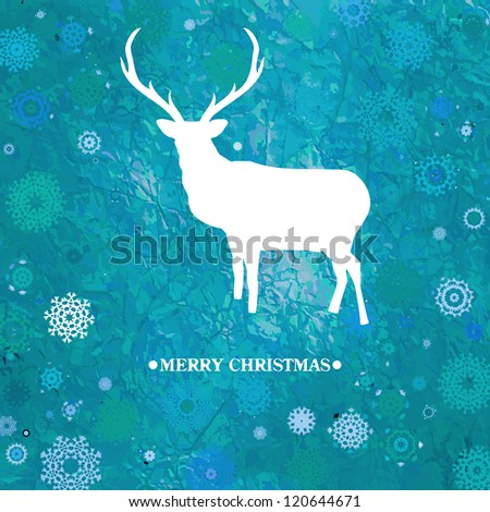 Christmas deer tempate card. And also includes EPS 8 vector