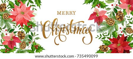 christmas design composition of