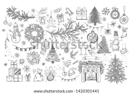 christmas design element in