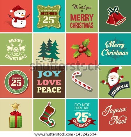 christmas design elements for