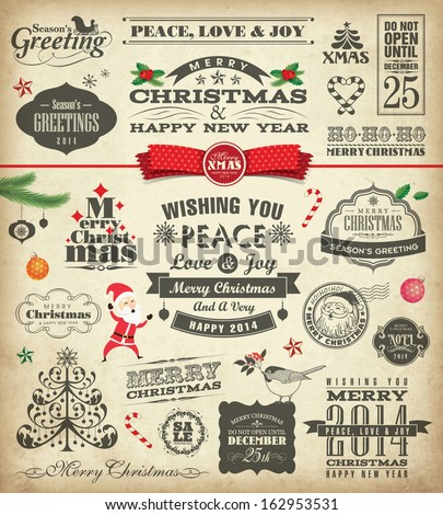 christmas design elements in