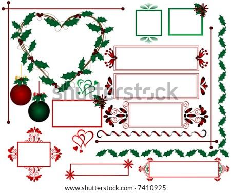 Christmas design elements,individually grouped.Vector.