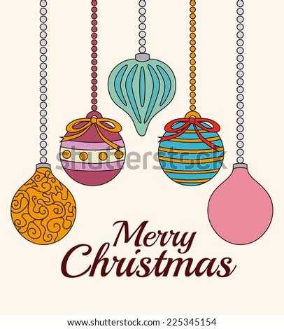 Christmas design over beige background, vector illustration #225345154