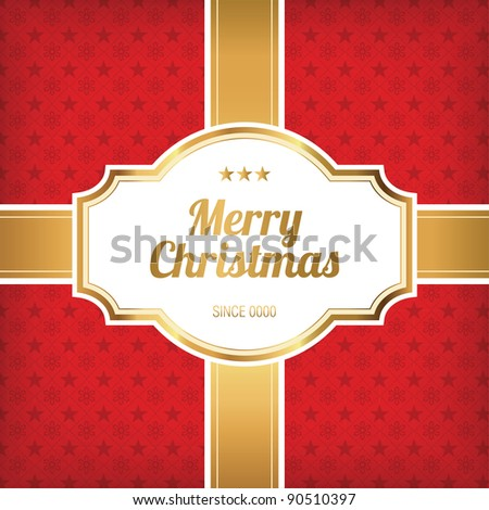Christmas Design - Red and Golden Card