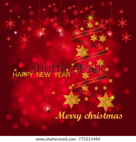 Christmas design Vector.Merry Christmas and happy new year #775215484