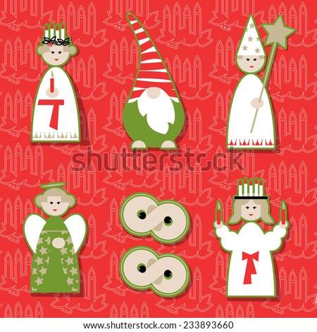 christmas dolls scandinavian