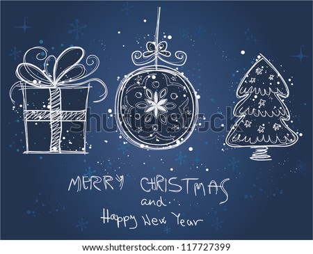 Christmas doodles.Vector illustration