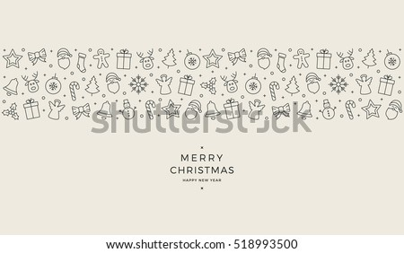 christmas element icons banner background