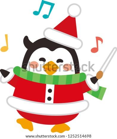christmas elements cute santa