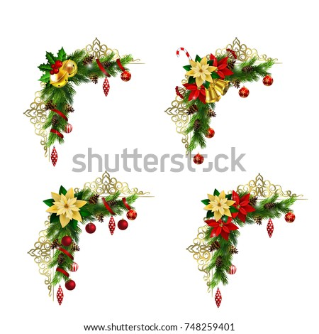 Christmas elements for your designs Foto stock ©