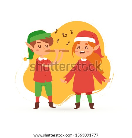 christmas elves kids singing