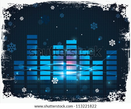 christmas equalizer background