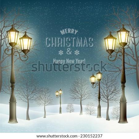 christmas evening winter