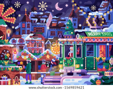 christmas fair in old town