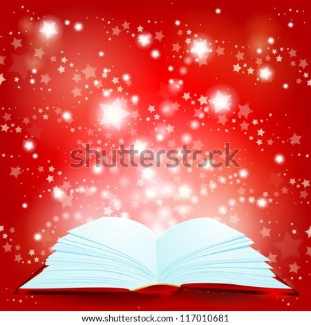 Christmas fairytale, vector background