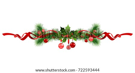 Christmas festive  frame. Holiday image for design banner, ticket, invitation or card, leaflet and so on.
